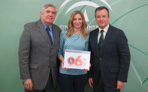 D. Eladio Gil, Dña, Ana Belén García y D. Higinio Almagro